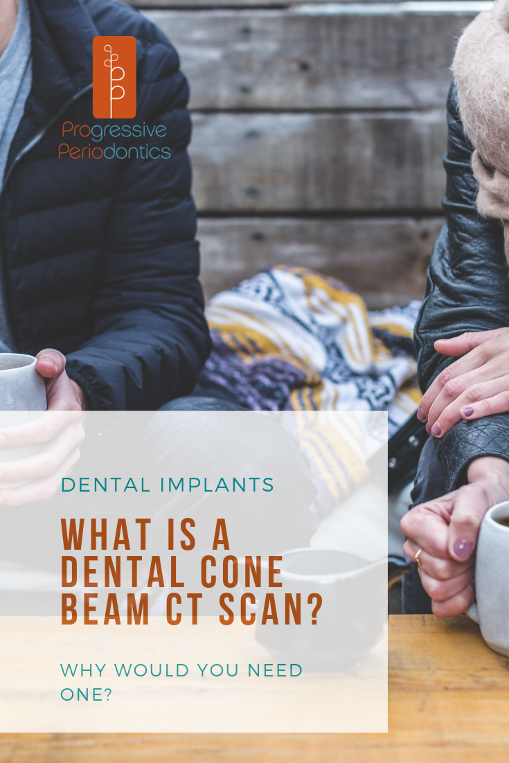 "Graphic that says ""Dental Implants. What Is A Dental Cone Bean CT Scan?"""