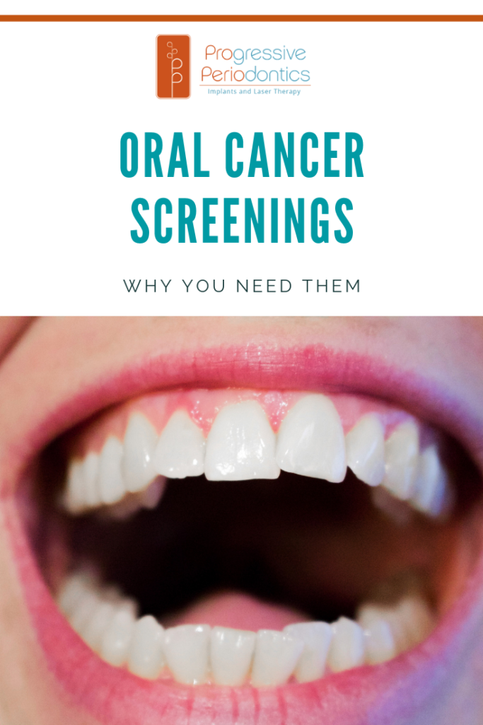 "Graphic that says ""Oral cancer screenings. Why you need them."""